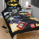Batman pillow case and Batman bedding white storage system beside the bed