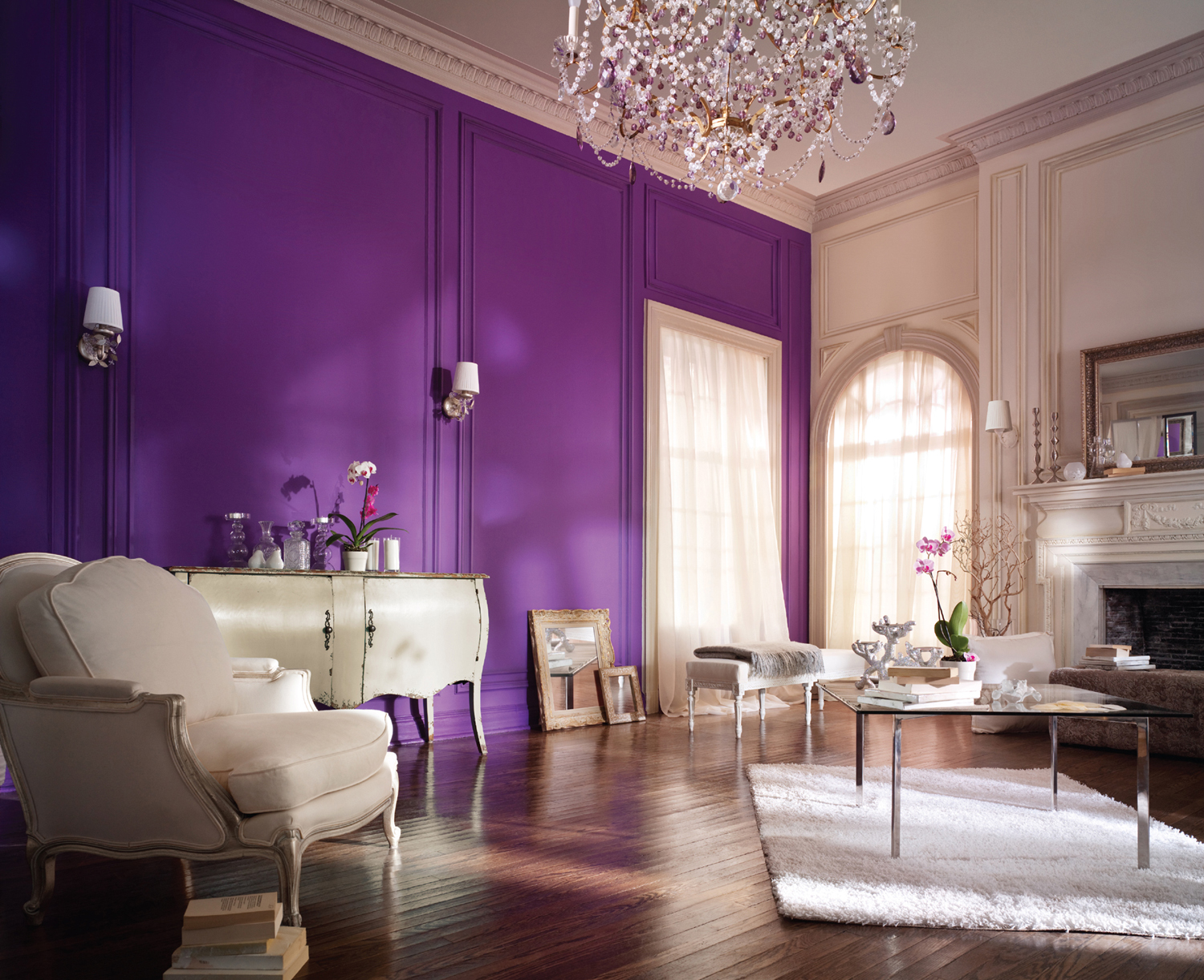 Purple wall paint the variants homesfeed Purple living room