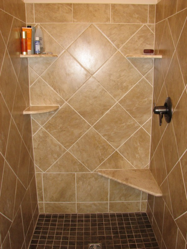 how to fix bathroom ceremic corner shelves