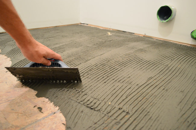 Cement coating as the base floors