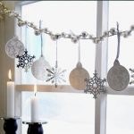 Christmas ornaments for window consisting of a pair of single chandeliers