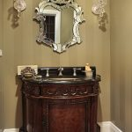 Powder Room With Oval Sink