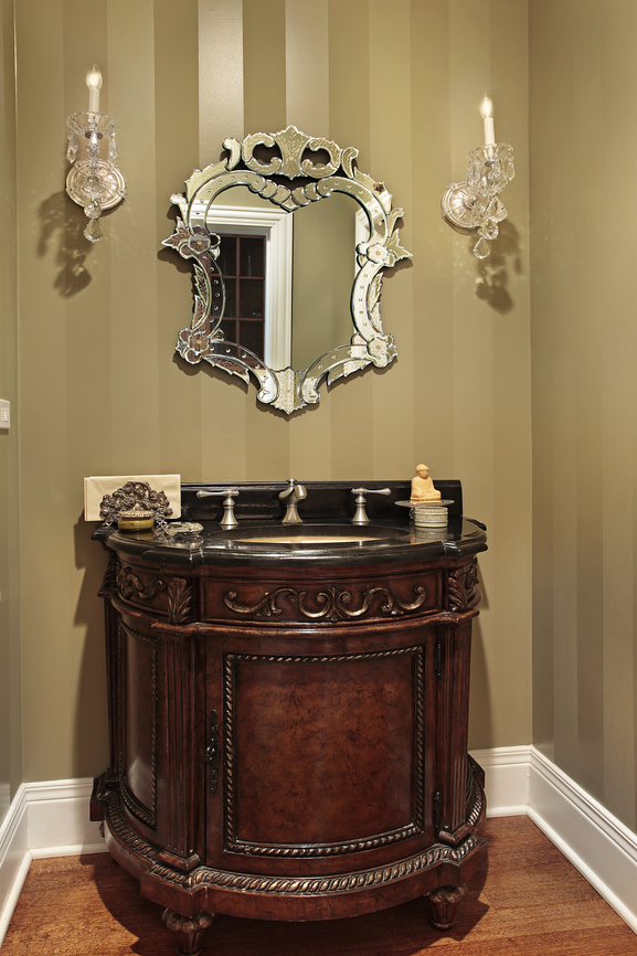 Small powder room designs homesfeed for Powder room bathroom vanities