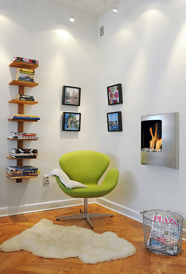 attractive design ideas comfy reading chair. Comfy and attractive reading nook consisting a green chair small  white wool rug upper built Top Twelve Corner Decoration Ideas HomesFeed