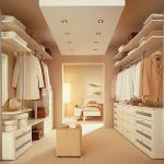 Contemporary recessed light fixtures and standing light fixture for closet room