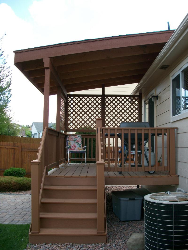 Deck cover ideas homesfeed for Roof deck design