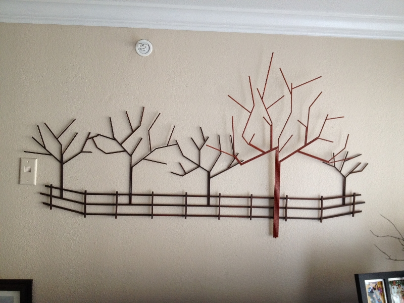 Creative Wall Decoration Made From Free Branches