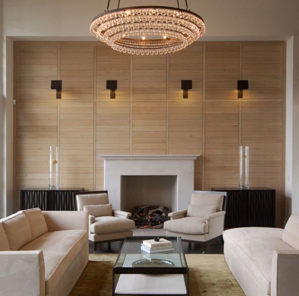 Merveilleux Four Series Of Wall Mounted Lighting Fixtures In Living Room Luxurious  Crystal Pendant Lamp A Fireplace