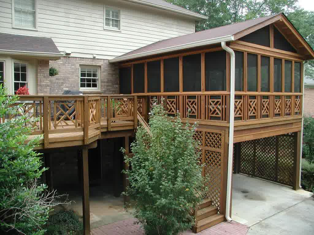 Covered deck designs homesfeed for Deck blueprints