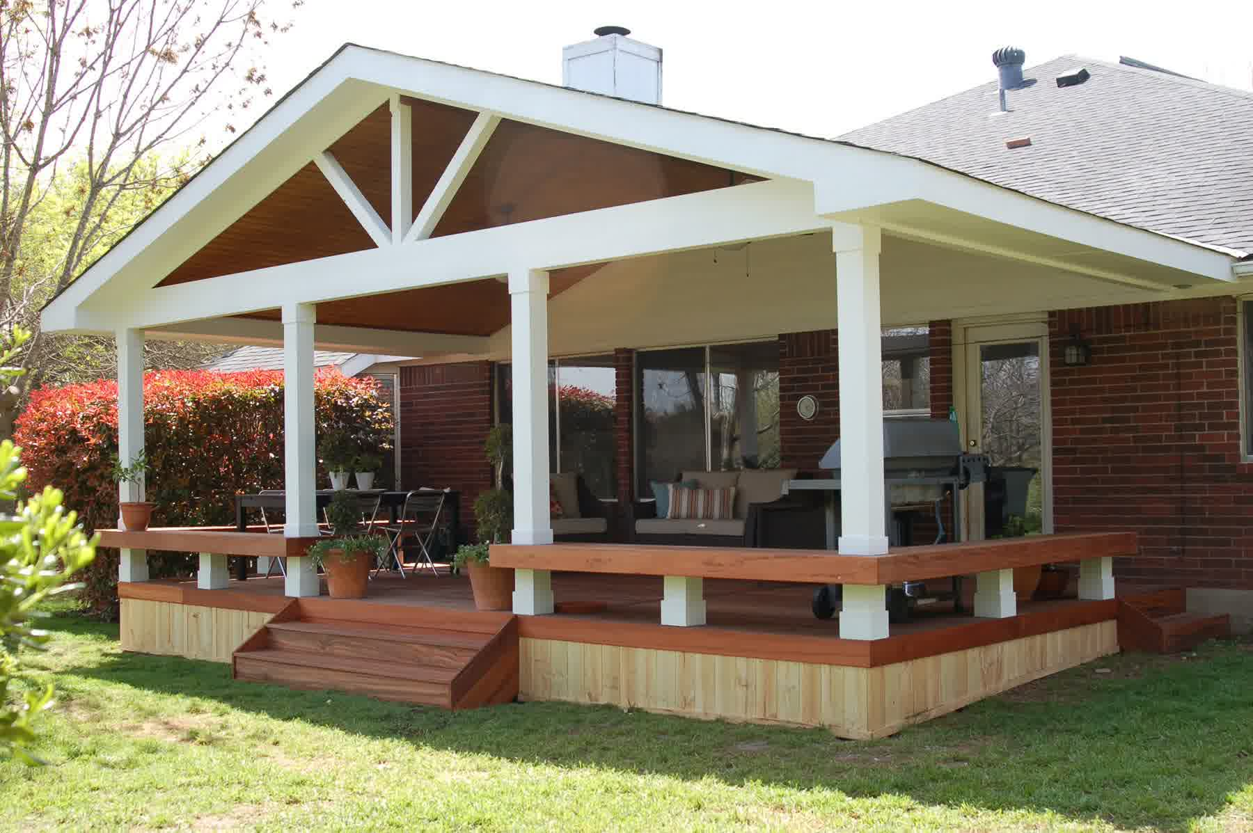 Covered deck designs homesfeed for Deck designer