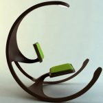 Infinity chair with bright green seating features