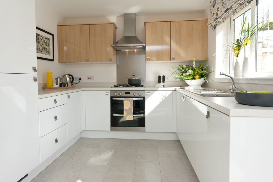 Inspiring cute kitchen d cor homesfeed for White cabinets white floor