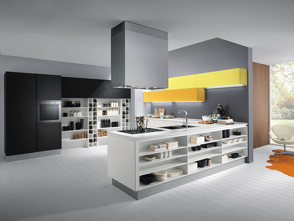 Ultra modern kitchen styles homesfeed for Modern yellow kitchen cabinets