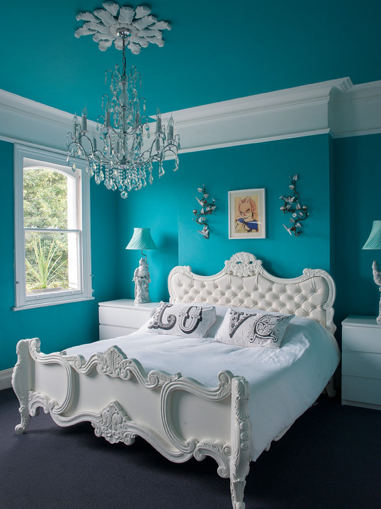 Turquoise Wall Paint, Called as the Royal Color | HomesFeed