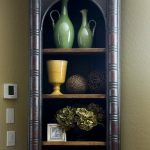 Luxurious classic open shelves for displaying antique collections