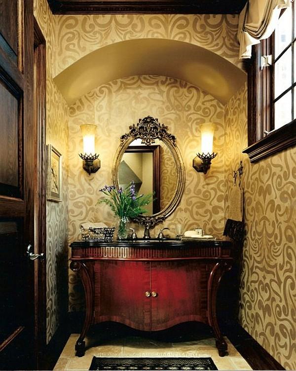 small powder room designs homesfeed. Black Bedroom Furniture Sets. Home Design Ideas
