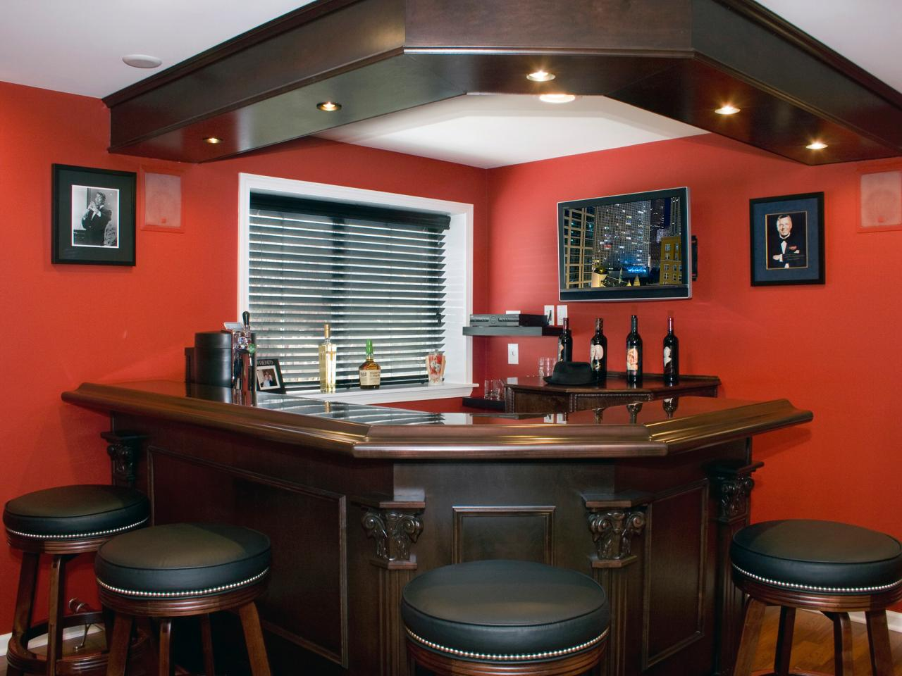 Bar Ideas For Small Living Room: Small Basement Bar Ideas