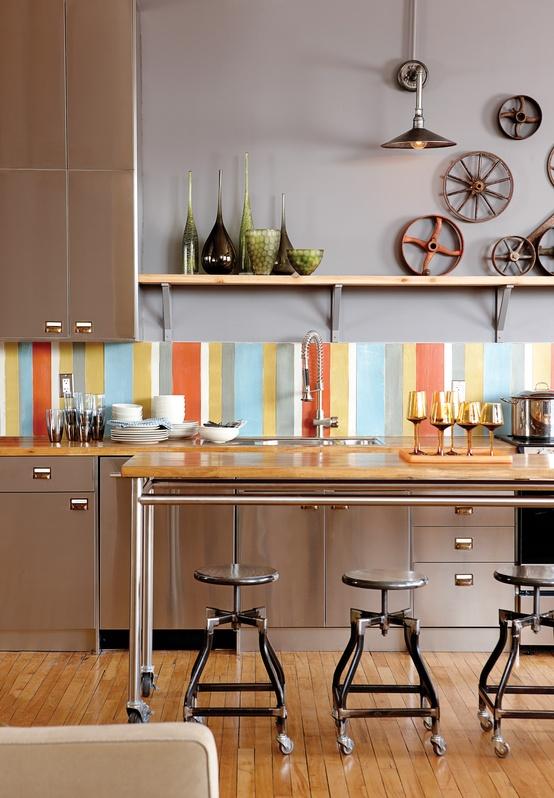 Colorful backsplash tiles for kitchens homesfeed for Kitchen decoration piece