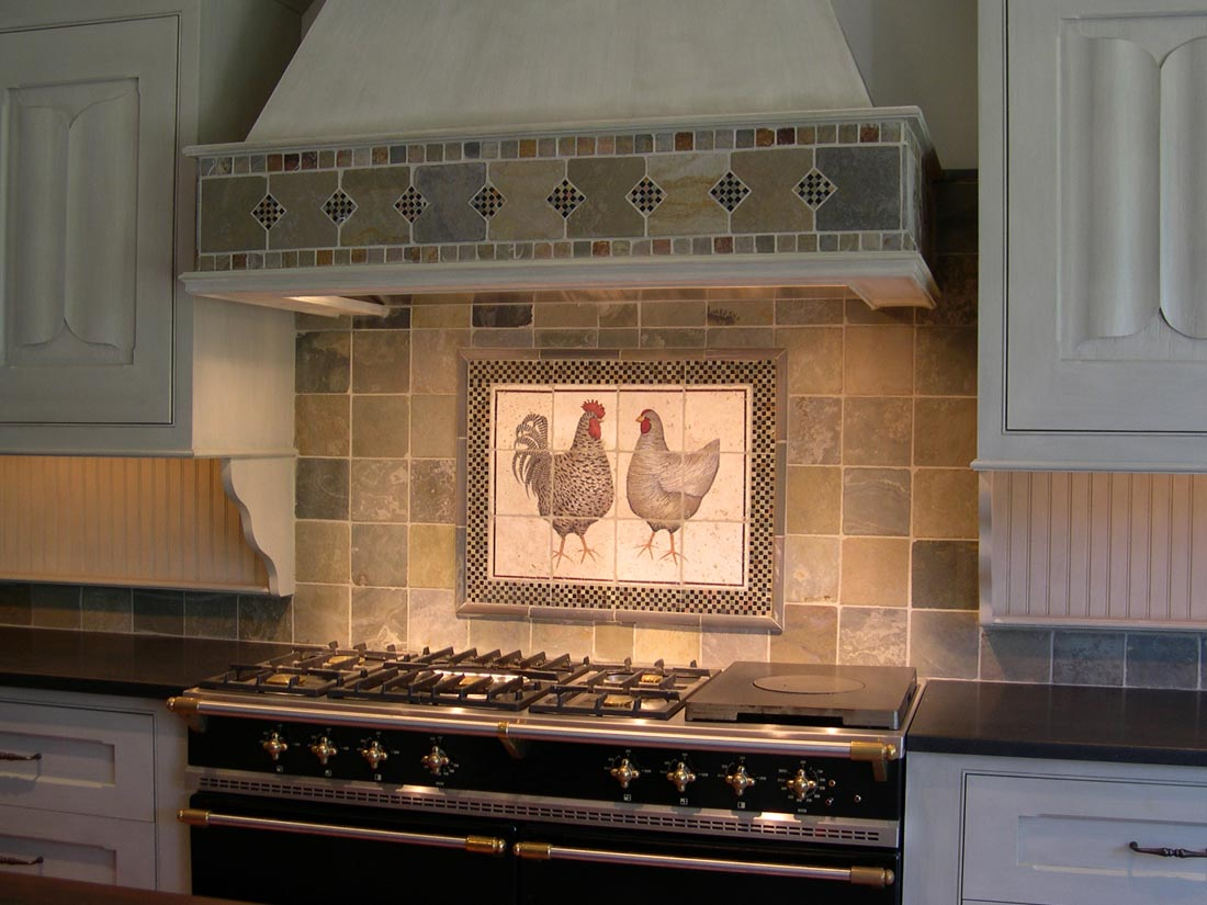 Country kitchen backsplash ideas homesfeed Kitchen tile backsplash