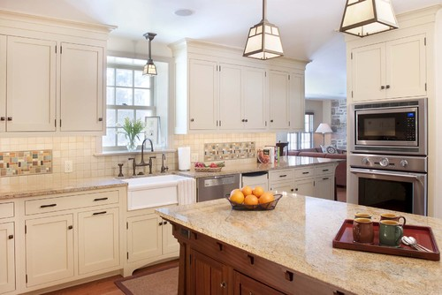 pendant lamp for kitchen sink in modern kitchen set a kitchen island with white marble counter - Lighting Over Kitchen Sink