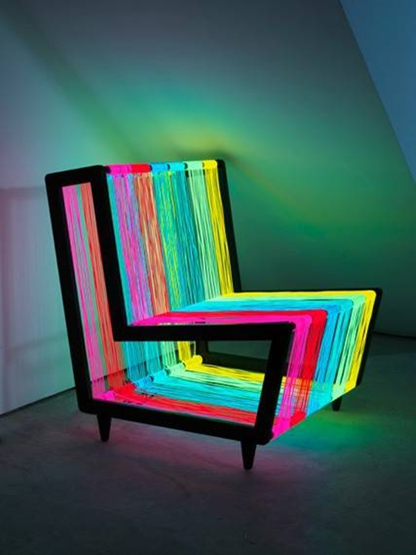 Marvelous Rainbow Colored Neon Chair