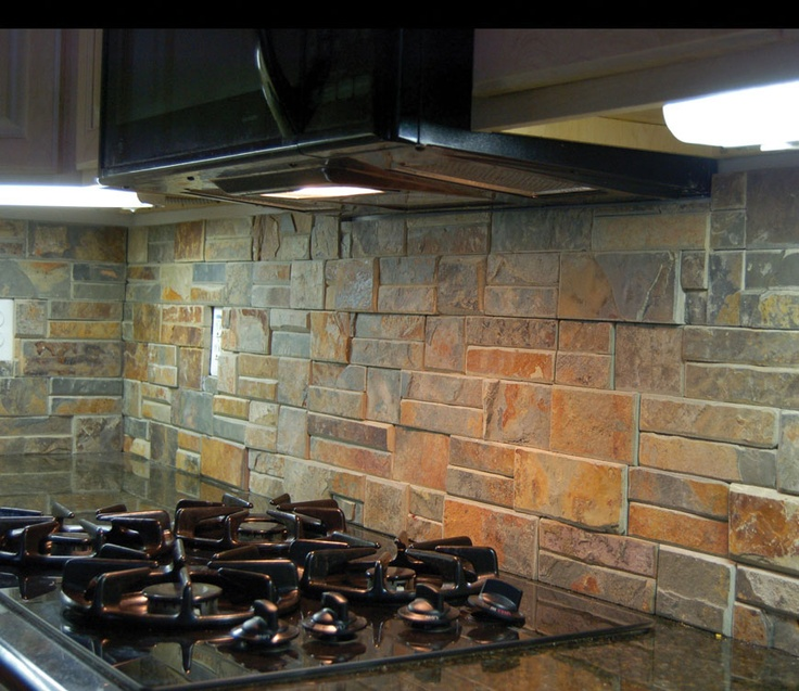 rustic kitchen backsplash idea a gas stove light fixtures under
