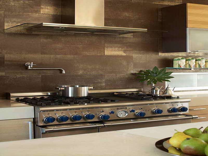 rustic kitchen backsplash large gas stove