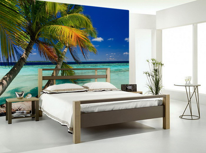 Top fortunoff comforters image search wallpapers for Beach mural bedroom
