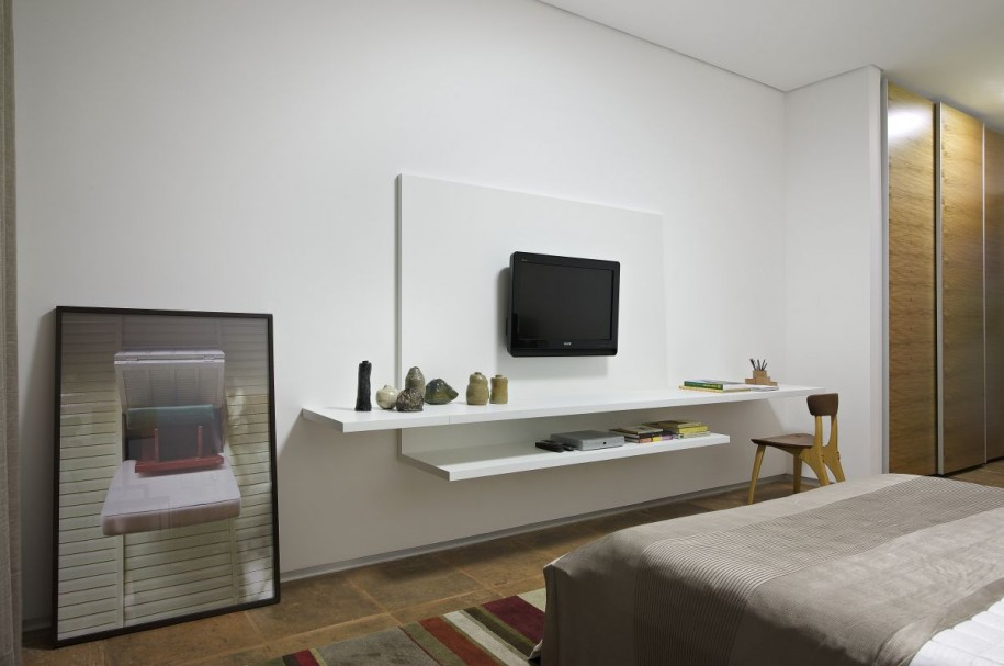 Bedroom Tv Stand Designs : Mounted tv ideas how to decorate them beautifully homesfeed