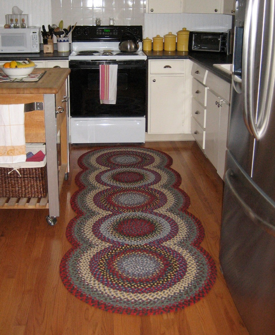 Sophisticated Kitchen Rug With Multiple Colors And Unique Shape Small  Kitchen Island With Wood Top Small