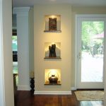 Three wall niches  for organizing luxurious and ethnic decoration items