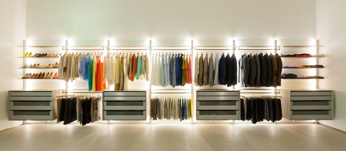Top And Under Clothing Closet Organizer Light Fixtures