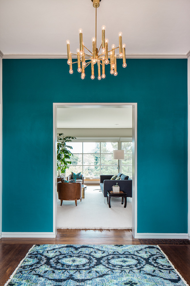 Turquoise Color Scheme For Wall System Modern Pendant Chandelier Fixture  Fabulous Entryway Rug In Blue And