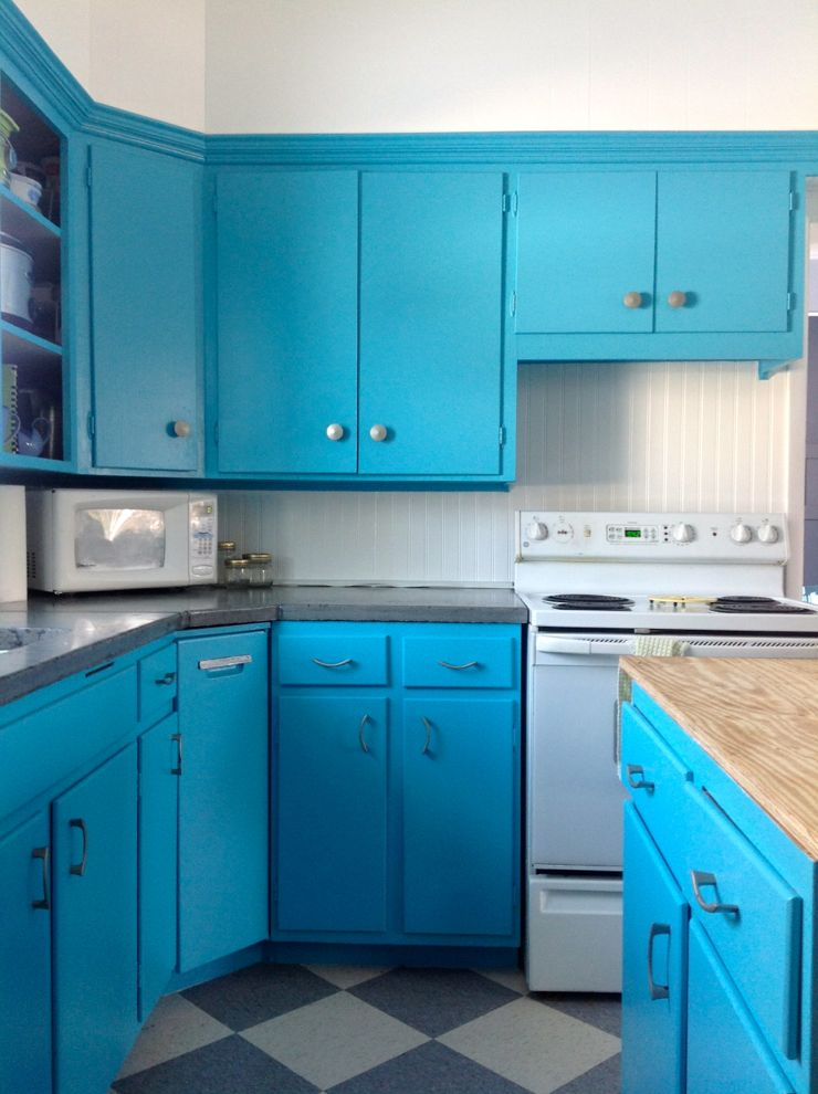 Turquoise Blue Kitchen Cabinets Quicua