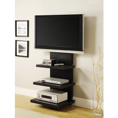 mounted tv ideas how to decorate them beautifully homesfeed. Black Bedroom Furniture Sets. Home Design Ideas