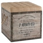 Wine crate Ottoman idea with coffee sack top