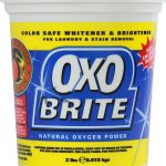 A Basket Of Best Non Chlorine Bleach In The Name Of Oxo Brite With Blue And Yellow Combination Sticker