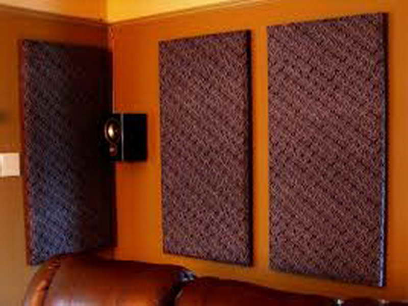 apartment interior design with purple mattress for soundproofing