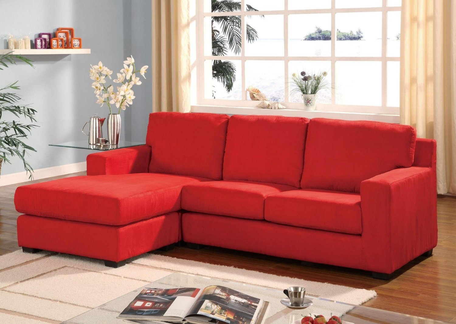 Red Sofa Living Room Decor Affordable Sectional Couches For Cozy Living Room Ideas Homesfeed