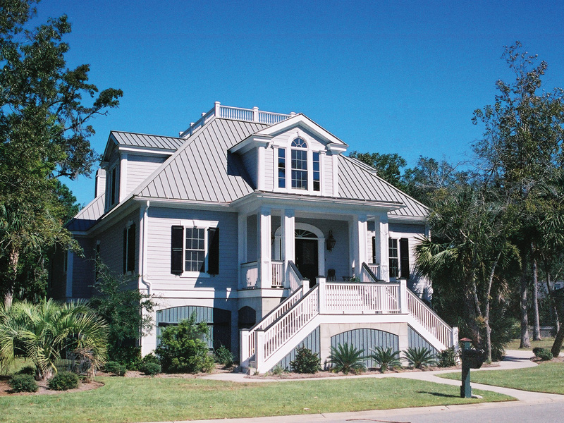 Unique and historic charleston style house plans from for Charleston house plans