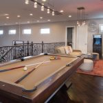 amazing game room and interior design games for adults with pool table or billiard table and casino game plus hardwood floor