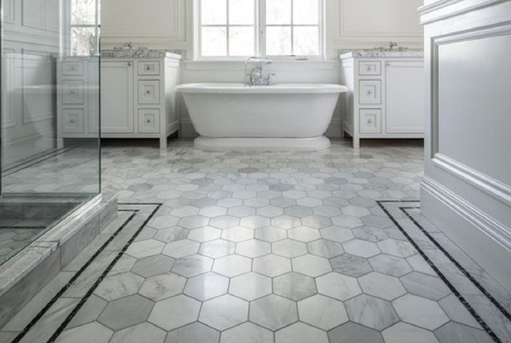 awesome and best flooring for bathroom in white for classy bathroom ideas combined with tub and