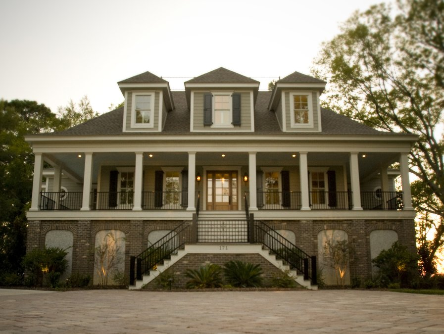 Unique and historic charleston style house plans from for Charleston style and design