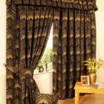 awesome martha stewart window treatments in brown pattern curtains plus valances and wooden laminate floor and yellow wooden table with golden vase