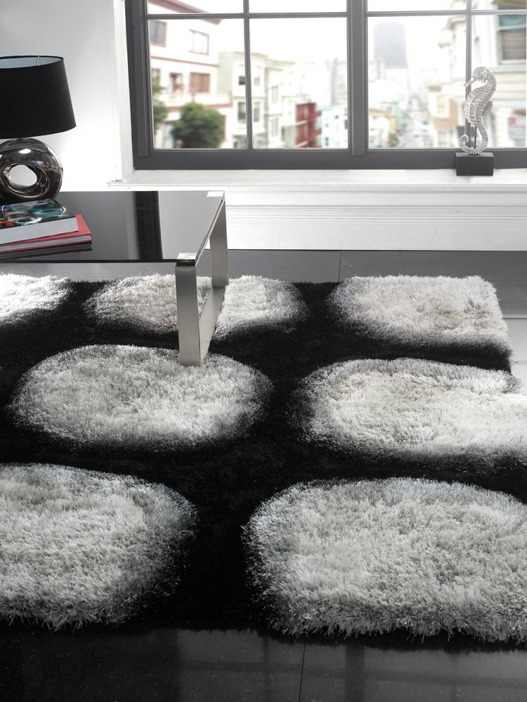 Black Grey And White Area Rugs Home Decor