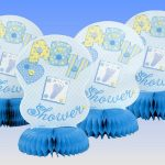 baby boy shower centerpieces for tables in blue with beautiful ornaments