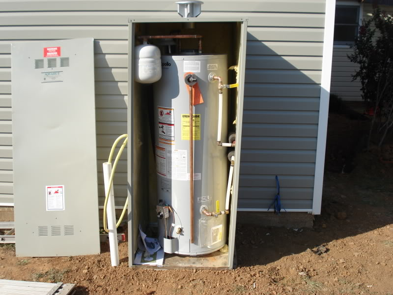 Genial Big Tank Water Heater And Outdoor Water Heater Enclosure And Utdoor Water  Heater Enclosure Shed In