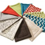 colorful various personalized dog mat design with several pattern of chevron and zebra