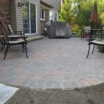 comfy patio with brick paver calculator with basketweave pattern combined with comfy terrace chairs and coffee table plus awesome garden