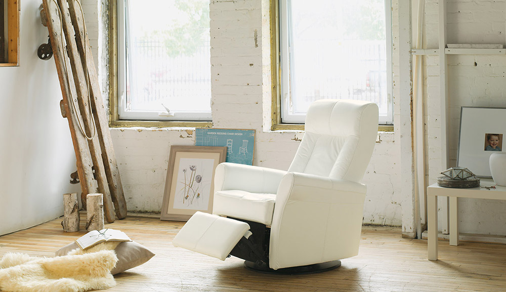 Comfy Recliners That Donu0027t Look Like Recliners In White Decorated With  Wooden Floor And